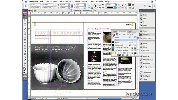 Colorizing images: InDesign CS3 Essential Training