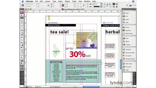 Copying and pasting from Illustrator: InDesign CS3 Essential Training