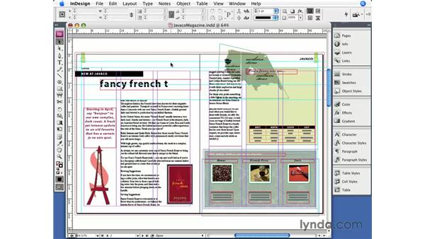 Selecting objects: InDesign CS3 Essential Training