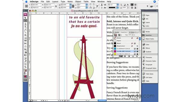 Basic strokes and fills: InDesign CS3 Essential Training