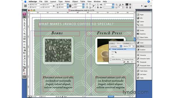 Transparency: InDesign CS3 Essential Training