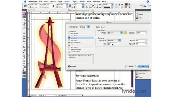 Other effects: InDesign CS3 Essential Training