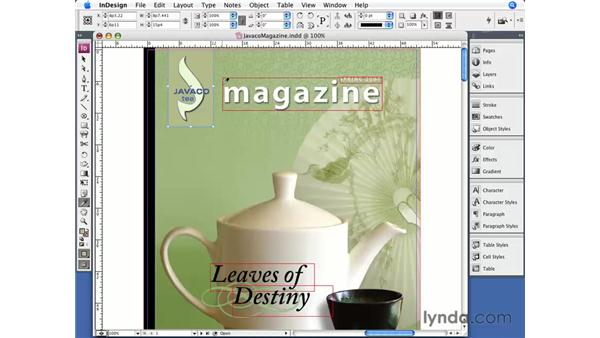 The Eyedropper tool: InDesign CS3 Essential Training