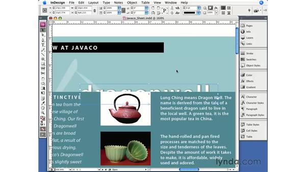 Stacking objects: InDesign CS3 Essential Training