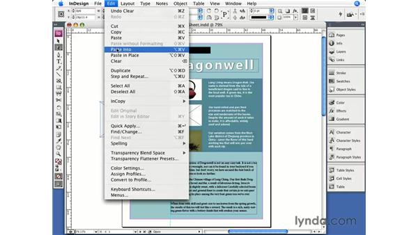 Nesting objects: InDesign CS3 Essential Training