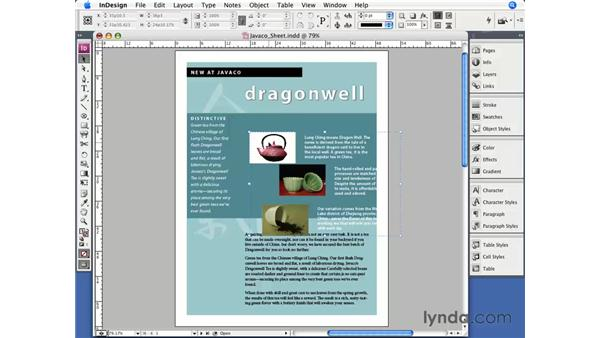 Grouping and locking objects: InDesign CS3 Essential Training