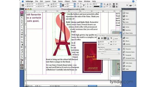 Text wrap: InDesign CS3 Essential Training