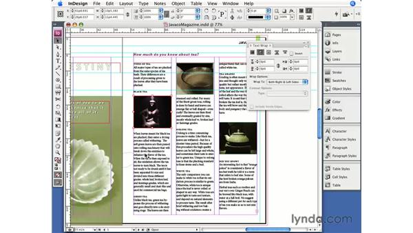 Anchored objects: InDesign CS3 Essential Training