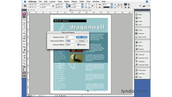Duplicating: InDesign CS3 Essential Training
