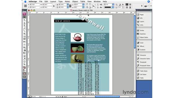 Rotating: InDesign CS3 Essential Training