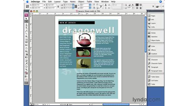 Scaling: InDesign CS3 Essential Training