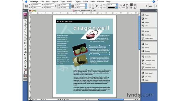 The Transform Again command: InDesign CS3 Essential Training