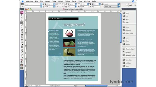 Basic character styling: InDesign CS3 Essential Training