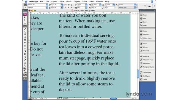 OpenType features: InDesign CS3 Essential Training