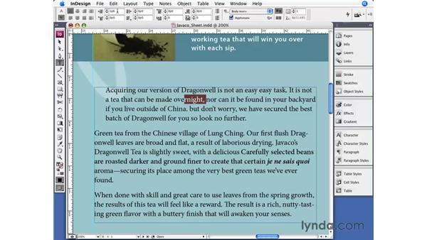 Paragraph formatting: InDesign CS3 Essential Training