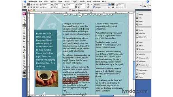 Hyphenation: InDesign CS3 Essential Training