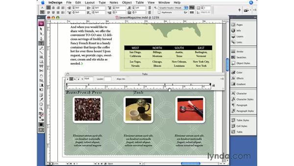 Tabs: InDesign CS3 Essential Training