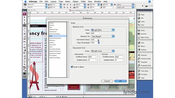 The Align to Baseline Grid button: InDesign CS3 Essential Training