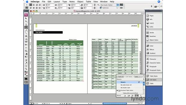 Table styles: InDesign CS3 Essential Training