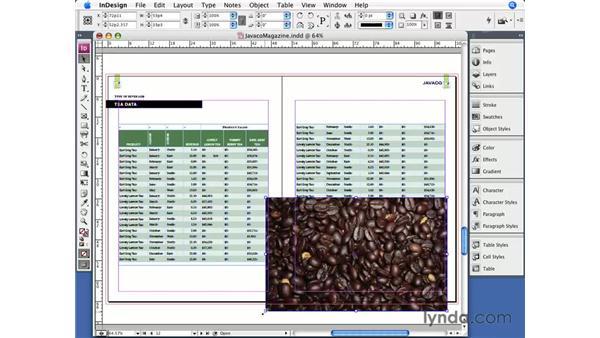 Placing graphics in cells: InDesign CS3 Essential Training
