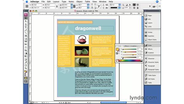 Unnamed colors: InDesign CS3 Essential Training