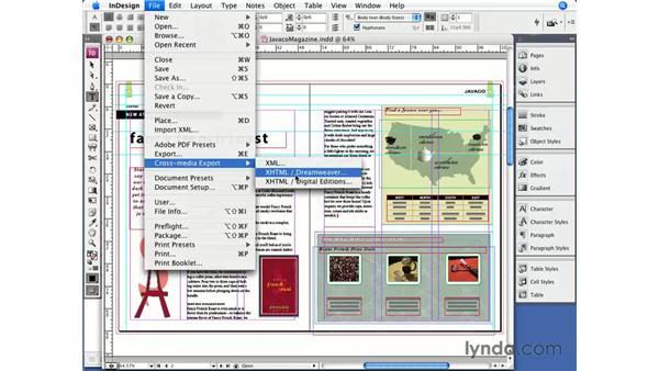 Exporting stories: InDesign CS3 Essential Training