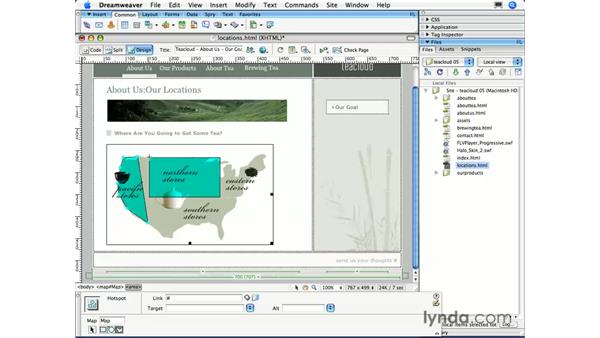 Image maps: Dreamweaver CS3 Essential Training