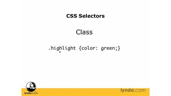 CSS selectors: Dreamweaver CS3 Essential Training
