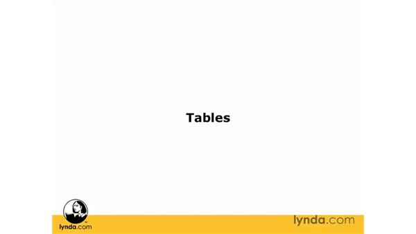 About tables: Dreamweaver CS3 Essential Training