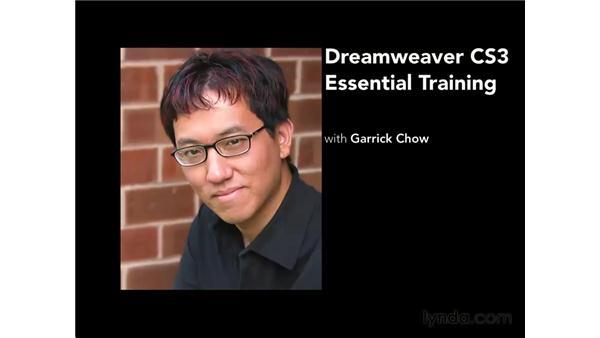 Goodbye: Dreamweaver CS3 Essential Training