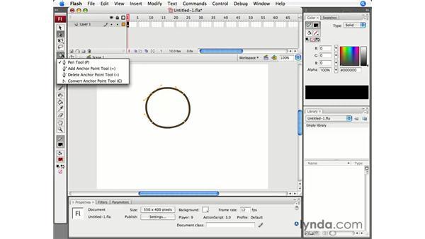 The improved Pen tool: Flash CS3 Professional Essential Training
