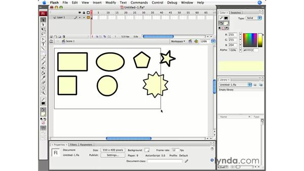 Drawing with shapes: Flash CS3 Professional Essential Training