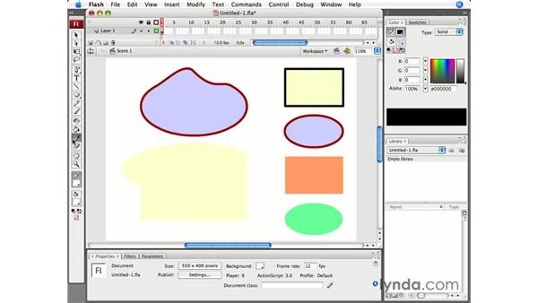 Manipulating lines and fills: Flash CS3 Professional Essential Training