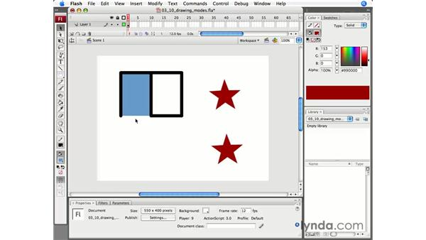 Understanding drawing modes: Flash CS3 Professional Essential Training