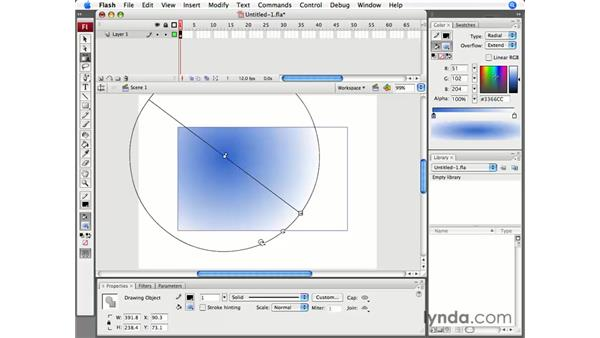 The Gradient Transform tool: Flash CS3 Professional Essential Training