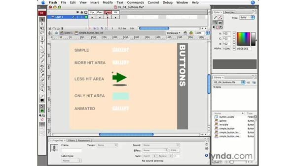 Working with buttons: Flash CS3 Professional Essential Training