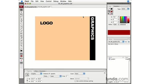 Working with graphics: Flash CS3 Professional Essential Training