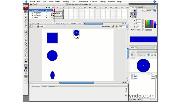 Working with multiple frames: Flash CS3 Professional Essential Training