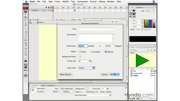 Understanding document settings: Flash CS3 Professional Essential Training