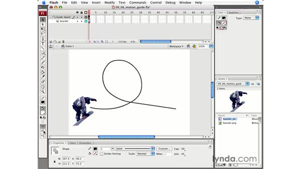 Motion guides: Flash CS3 Professional Essential Training