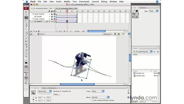 Animating filters: Flash CS3 Professional Essential Training