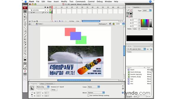 Flash-specific blend modes: Flash CS3 Professional Essential Training