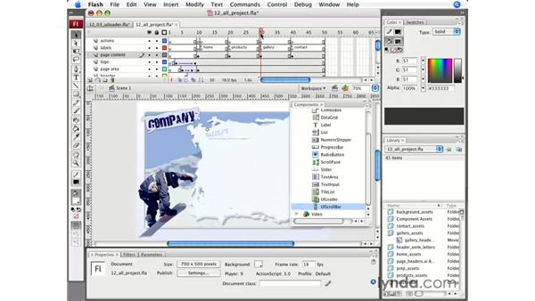 Using a Loader component: Flash CS3 Professional Essential Training