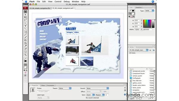 Simple navigation: Flash CS3 Professional Essential Training