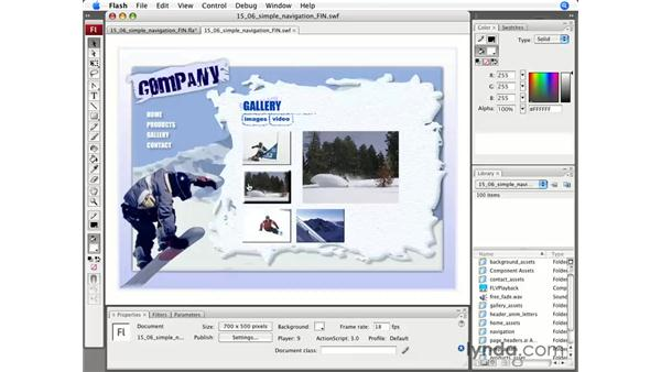 Scripting components: Flash CS3 Professional Essential Training