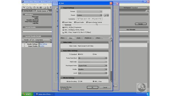 Working with Device Central: After Effects CS3 Professional New Features