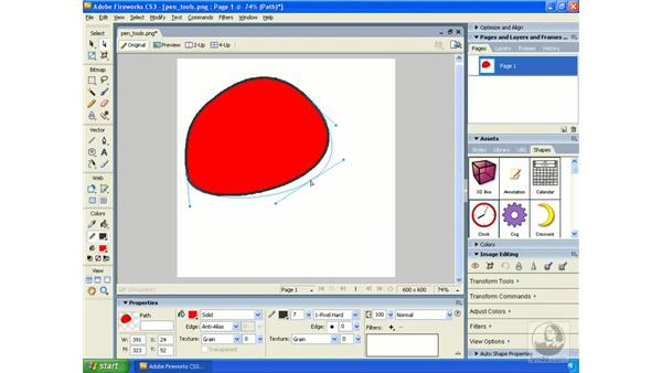 The Pen tool: Fireworks CS3 Essential Training