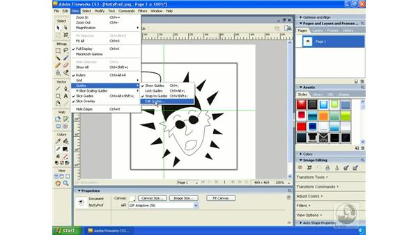 Rulers, guides, and grids: Fireworks CS3 Essential Training