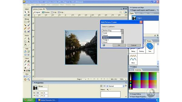 Creating a picture frame: Fireworks CS3 Essential Training