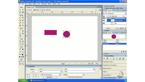 Creating symbols: Fireworks CS3 Essential Training